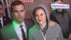 Shailene Woodley & Theo James Happily greet fans after barricade falls on her in Hollywood