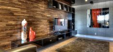 Finium Classik Walnut feature/media wall