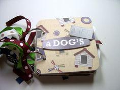 Dog Mini Album Mini Album Scrapbook Memory Book by HampshireRose