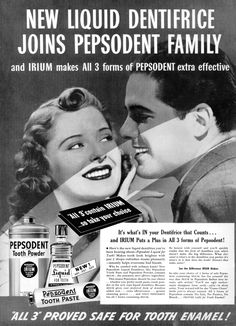 1939 Advertisement for Pepsodent  All 3 Contain Irium!