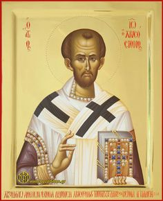 SAINT_JOHN_CHRYSOSTOM-web Byzantine Icons, Byzantine Art, Religious Icons, Religious Art, John Chrysostom, Saints And Sinners, Russian Icons, Orthodox Christianity, Catholic Saints