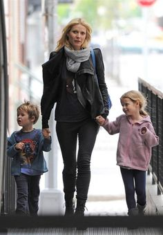Gwyneth Paltrow with her son and daughter.  ♥ Visit my celebrity site at www.celebritysize.com♥