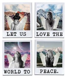 """let us love the world to peace"" by vanessadxy ❤ liked on Polyvore featuring art, artset and vdxyartset"
