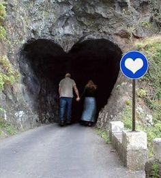 """Heart in a rock {tunnel} They are all over the world, I am looking for them. """"D""""eb heart cave"""