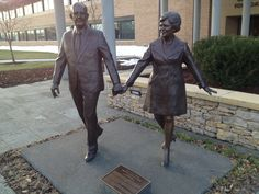 Ewing and Muriel Kauffman sculpture at Kauffman Foundation