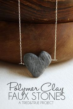 Faux Stone Jewelry with Polymer Clay - You'll never believe what secret material is used!