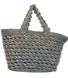 Buy Sequins Crochet Small Handbag | Ash Grey handbag online