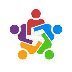 Items similar to Custom Logo Design Premade Logo group union logo. Concept for a friendship, teamwork, social business on Etsy Jdm Logo, Logo Clipart, People Logo, Union Logo, Round Logo, Circle Logos, Eagle Design, Community Logo, Social Business