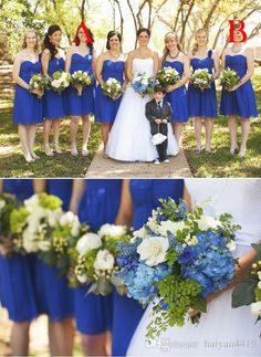 2017 Beach Elegent Bridesmaid Dresses Sweetheart Chiffon Royal Blue Knee Length Wedding Guest Wear Party Dress Plus Size Maid of Honor Gowns Short Bridesmaids Dresses Beach Bridesmaid Dresses 2017 Bridesmaids Dresses Online with 89.15/Piece on Haiyan4419's Store   DHgate.com