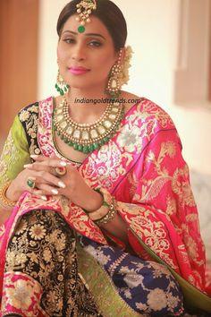 Bridal emerald polki diamond jewelry