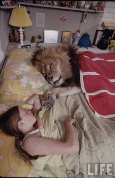 """Living with a Lion"" series of photos from the 1970s."