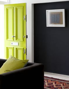 Oh My!. . . .love this combo. . . chartreuse and navy