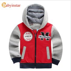 Cool Babyinstar Spring Autumn Children's Coat Patchwork Casual Hoodies Boys Sport Sweatshirts 2017 New Fashion Style Kids Jacket Coat - $38.97 - Buy it Now!