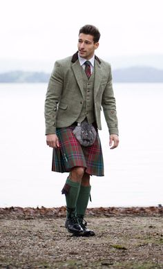 Try Designing Your Own tweed jacket and waistcoat to complete your Kilt outfit. Stand out on your wedding day!
