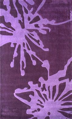 Purple Fireworks Rug from the Studio Collection at www.modernrugs.com