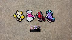 Oricorio Formes - Pokemon Perler Bead Sprites by MaddogsCreations on DeviantArt Perler Bead Templates, Perler Patterns, Pixel Art, Crane, Hama Beads Pokemon, Pokemon Sprites, Origami, Perler Bead Art, Beading Projects