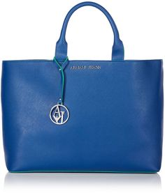0696a8164768 Armani Jeans Saffiano blue large tote bag - Available at House of Fraser  House Of Fraser