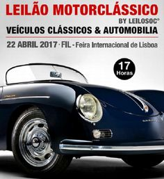 Leilão de automóveis e motociclos antigos durante o Salão Motorclássico na FIL