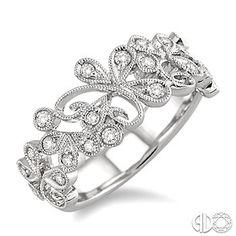 1/3 Ctw Round Cut Diamond Fashion Ring in 14K White Gold