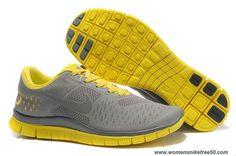 Nike Free 4.0 V2 Cool Grey Yellow Mens 511472-007 Online