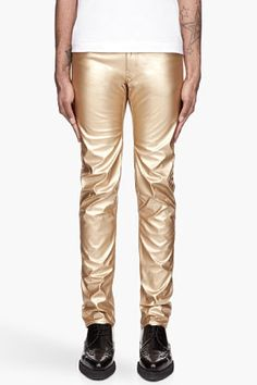 COMME DES GARÇONS HOMME PLUS Metallic Gold Faux Leather trousers --> I'm sorry, but gold lame pants are always relevant. You were saying?