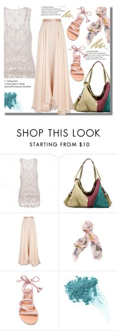 """""""Summer Look"""" by edita-n ❤ liked on Polyvore featuring Lanvin, Faliero Sarti, Ancient Greek Sandals, Bare Escentuals and Urban Decay"""