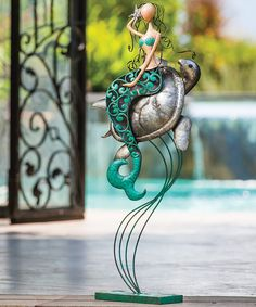 Another great find on #zulily! Mermaid & Turtle Statue by Evergreen #zulilyfinds