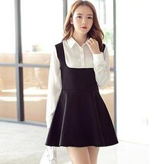 Buy 'Hamoon – Inset Shirt A-Line Jumper Dress' with Free Shipping at YesStyle.com.au. Browse and shop for thousands of Asian fashion items from China and more!