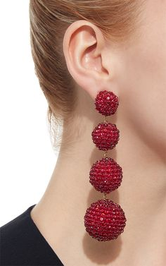 M'O Exclusive Les Bonbons Ruby Slippers Earrings by | Moda Operandi