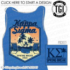 TGI Greek - Kappa Sigma - Spring Break - Greek Apparel #tgigreek #kappasigma