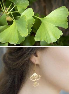 Gingko Earrings