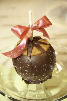 A Dark Belgian Chocolate with Sea Salt Caramel Apple