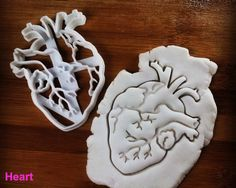 Anatomical Heart cookie cutter | Brain cookies cutters | biscuit cutter, Gifts for medical student science students | one of a kind | ooak