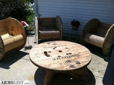 ARMSLIST - For Sale: Rustic Patio Furniture Cable Spools