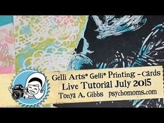 live class showing how to use Gelli Arts Gelli Prints with die-cuts to create great backgrounds, interesting colored dies. I created 2 cards in this class. I...