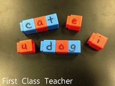 Use unifix cubes for spelling and teaching phonics