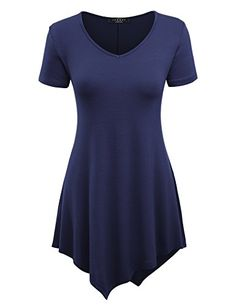 928f1304fff MBJ Womens Scoop Neck Trapeze Tunic XS ROYAL BRITE  A rayon tunic featuring  a hankerchief like hem. Fit and flare fit. Measured flat from size Small.