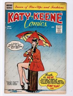 Katy Keene, where comic books met fashion. Haven't seen one since the Miss Reingold contest was a thing, too.
