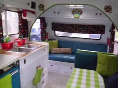 our cute camp trailer we just remodeled:)