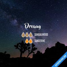 Blend Recipe: 3 drops Sandalwood, 2 drops Tangerine