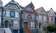 Painted Ladies in San Francisco. I love the Painted Ladies. Victorian Style Homes, Edwardian House, Edwardian Style, Victorian Era, Victorian Architecture, Architecture Details, Classic Architecture, San Francisco, Woman Painting