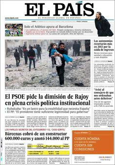 Los Titulares y Portadas de Noticias Destacadas Españolas del 4 de Febrero de 2013 del Diario El País ¿Que le parecio esta Portada de este Diario Español?