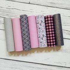 A4 Vinyl Fabric Sheet Buffalo Plaid Faux Leather Sheets 8x11 Faux Leather Earrings DIY DIY Hair Bows