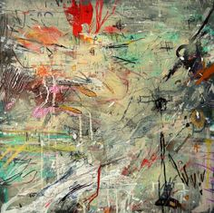 "Gil Ramos, ""Ocho para la Calma"", 2014.  Acrylic paint, spray paint, oil paint, pen, pencil, sharpie on canvas."