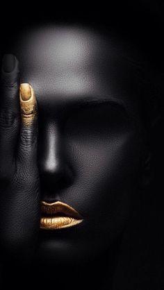 Black and gold Black Girl Art, Black Women Art, Art Girl, Headshot Photography, White Photography, Paint Photography, Creative Photography, Photography Journal, Photography Kids