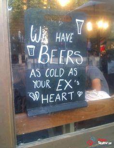 Lika kall öl som din fd