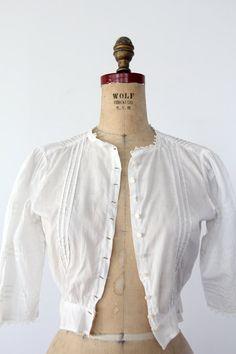 1900s Blouse / Edwardian White Top. $198.00, via Etsy.