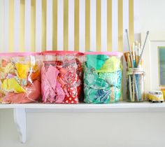 Natalie from Hungry Hippie showed us how to make Rip + Strip Placemats. Now she has an Easy Scrap Bin tutorial so you can organize and use your scraps!...
