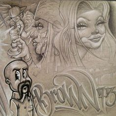 Sketch Tattoo Design, Tattoo Sketches, Art Sketches, Gangster Drawings, Chicano Drawings, Arte Cholo, Cholo Art, Chicano Love, Chicano Art
