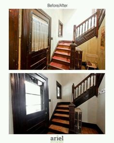 Rehab addict - Case Ave entryway. Before/ after by Ariel Photography